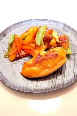 鶏肉のサングリア蒸し焼き