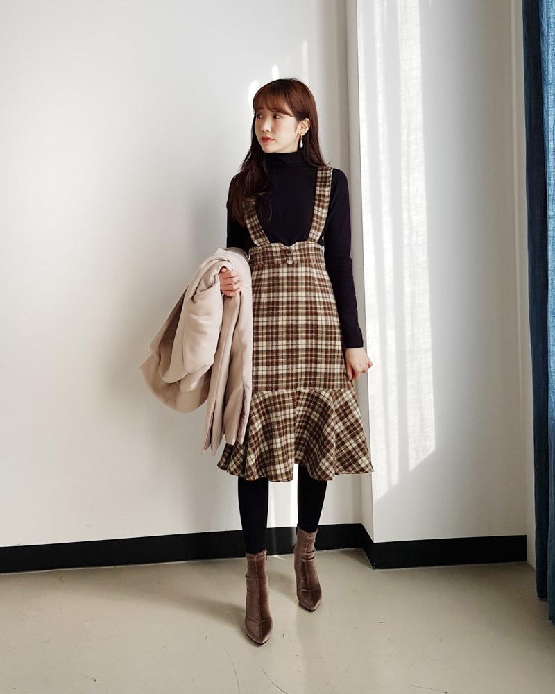 ▷この秋冬は韓国でもチェックブーム来てます♡