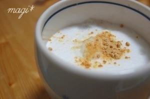 おうちカフェ♪あんこきな粉ラテ。