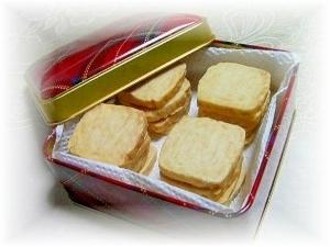 材料3つde甘くないチーズクッキー