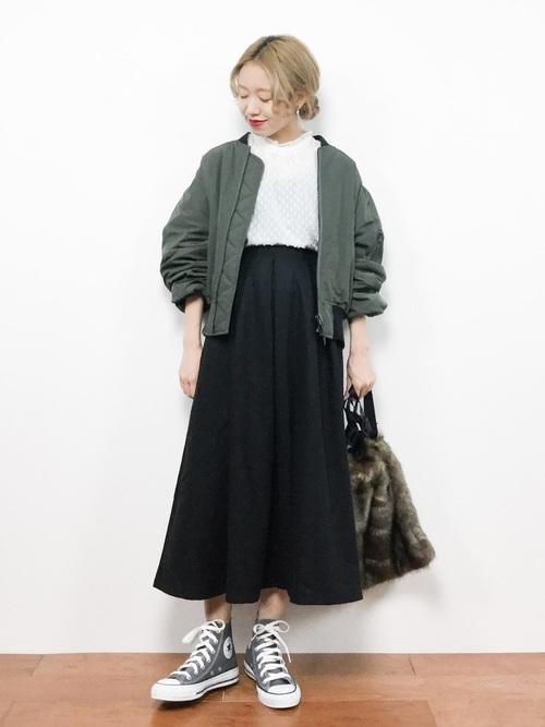 MA-1+フレアスカート