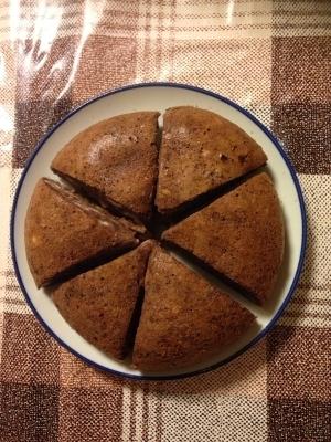 パンの耳入りココアケーキ