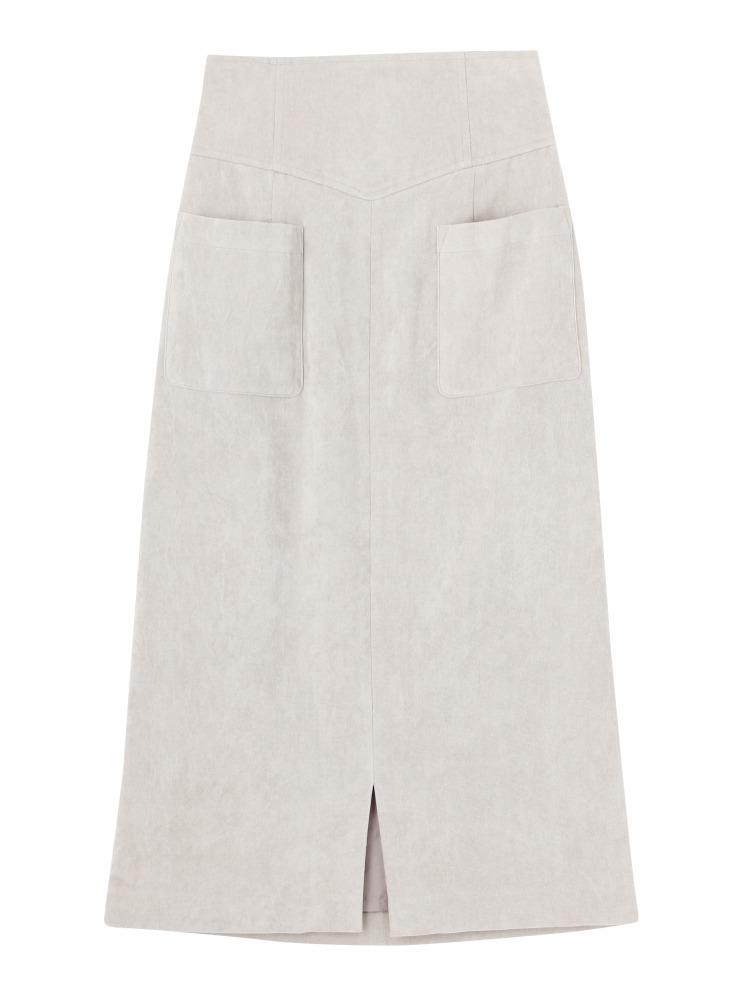 ベロアミドルタイトスカート