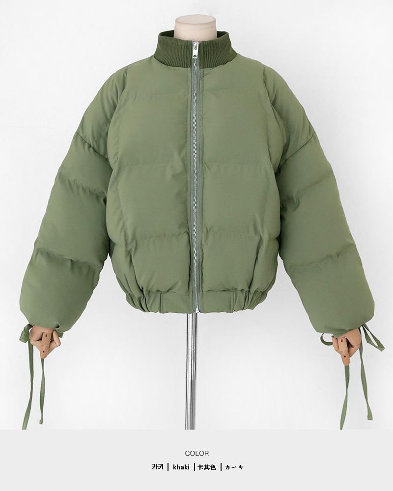 スリーブストラップ中綿ジャケット