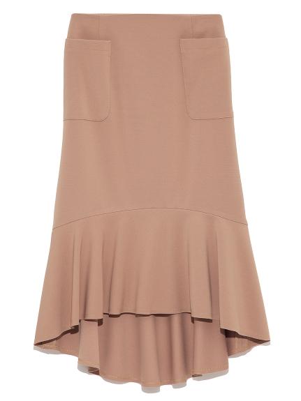 裾ラッフルタイトスカート