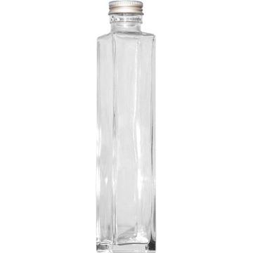 ハーバリウム瓶(角)200ml アルミ銀キャップ付