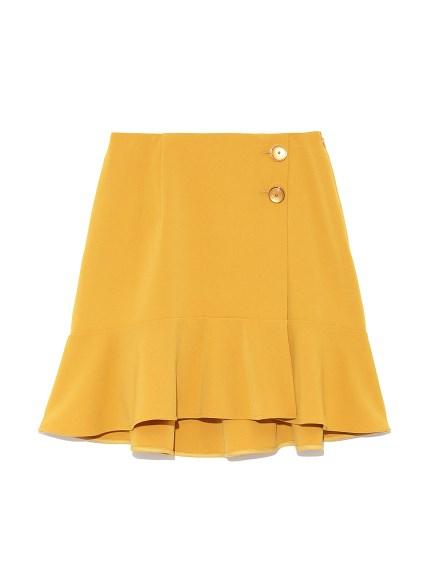 ラップ風裾フレアスカート