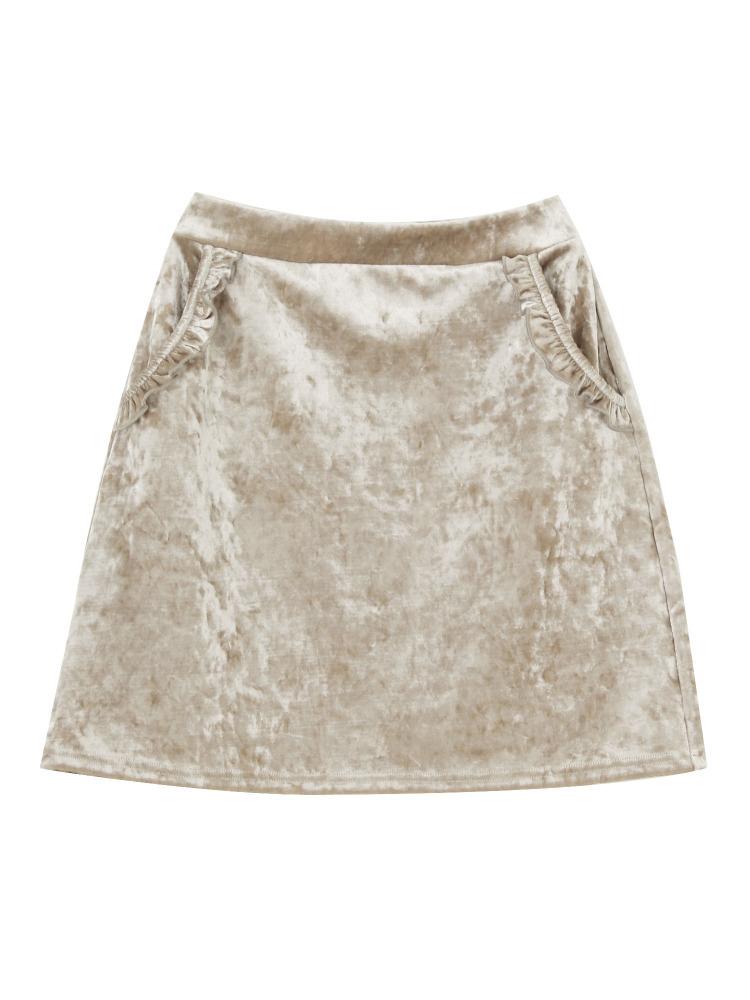 ベロアフリルポケットスカート
