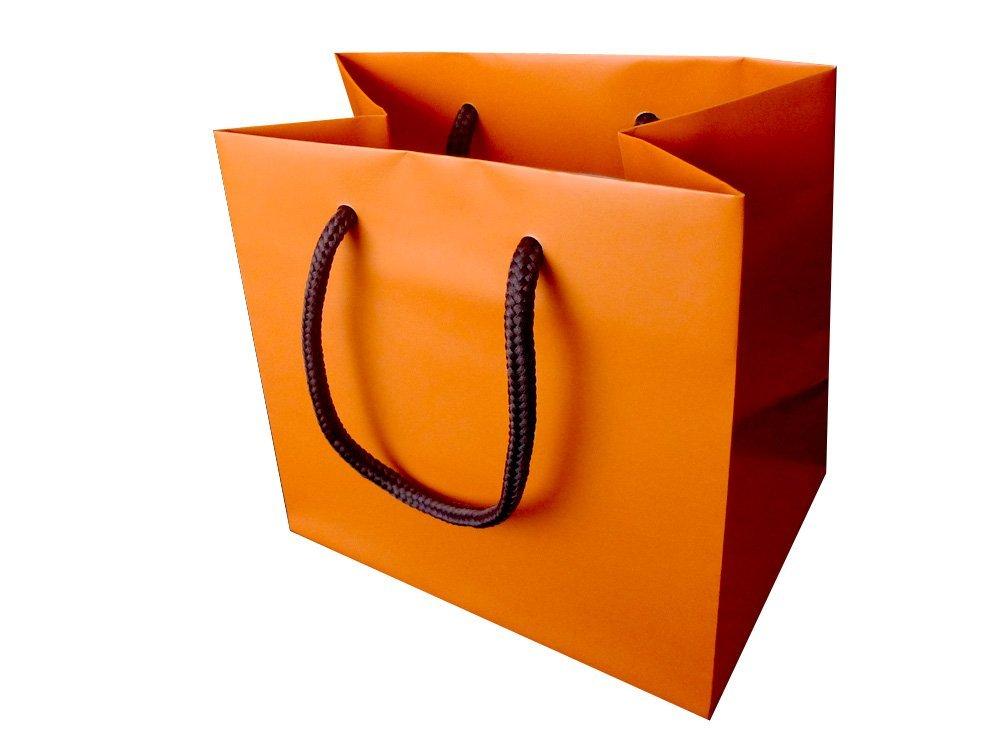 手提げ 紙袋 オレンジ/橙色