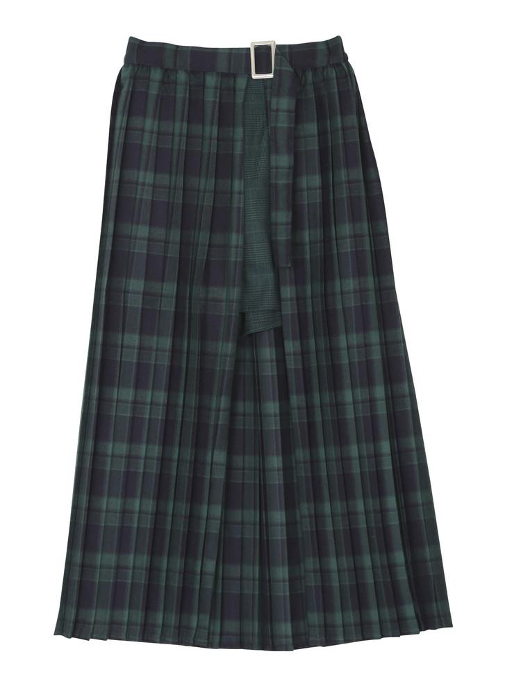 ダブルチェックラップスカート