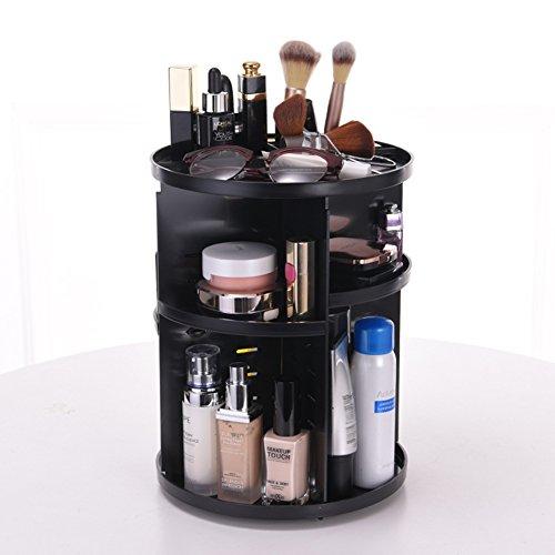 化粧品収納ボックス 360度回転式