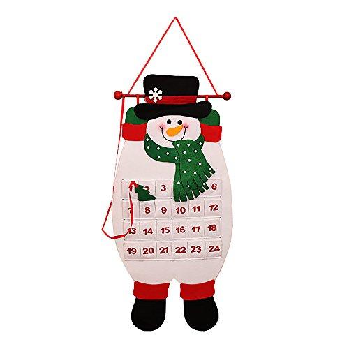 ポケット付き クリスマス アドベント カレンダー