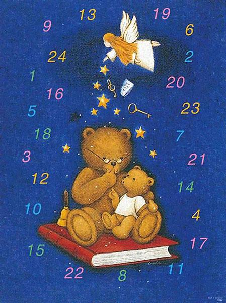 【アドベントカレンダー】ドイツ製アドベントカレンダー Bear&Angel クリスマス