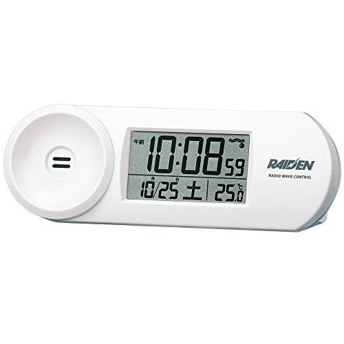 SEIKO CLOCK(セイコークロック) RAIDEN(ライデン)大音量デジタル電波目覚まし時計(白)