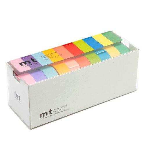 マスキングテープ mt 10色セット 15mm幅×10m巻き