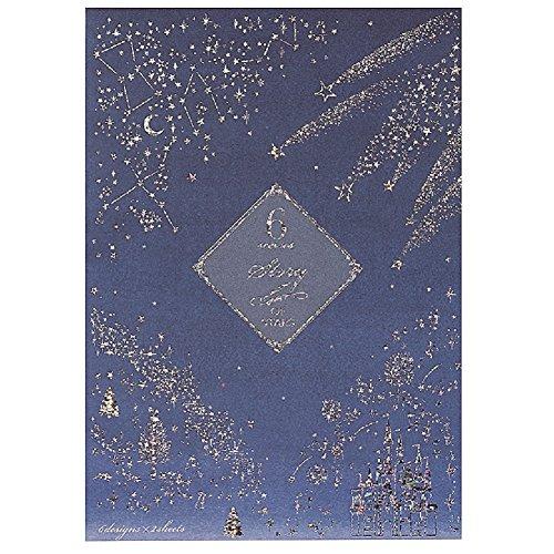 便箋 レターパッド ホログラム箔 6柄 星