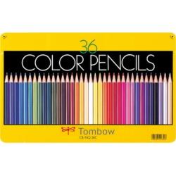 トンボ鉛筆 缶入色鉛筆 36色