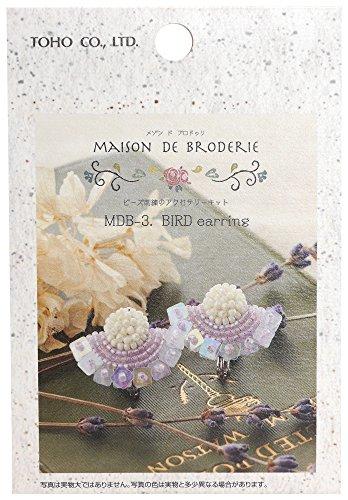 TOHO ビーズキット MAISON DE BRODERIE ビーズ刺繍のアクセサリーキット BIRDイヤリング