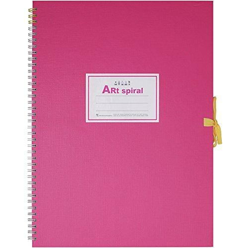 マルマン スケッチブック アートスパイラル F4 厚口画用紙 24枚 ピンク