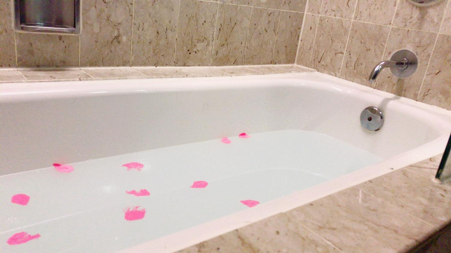 お風呂に入れて贅沢リラックス