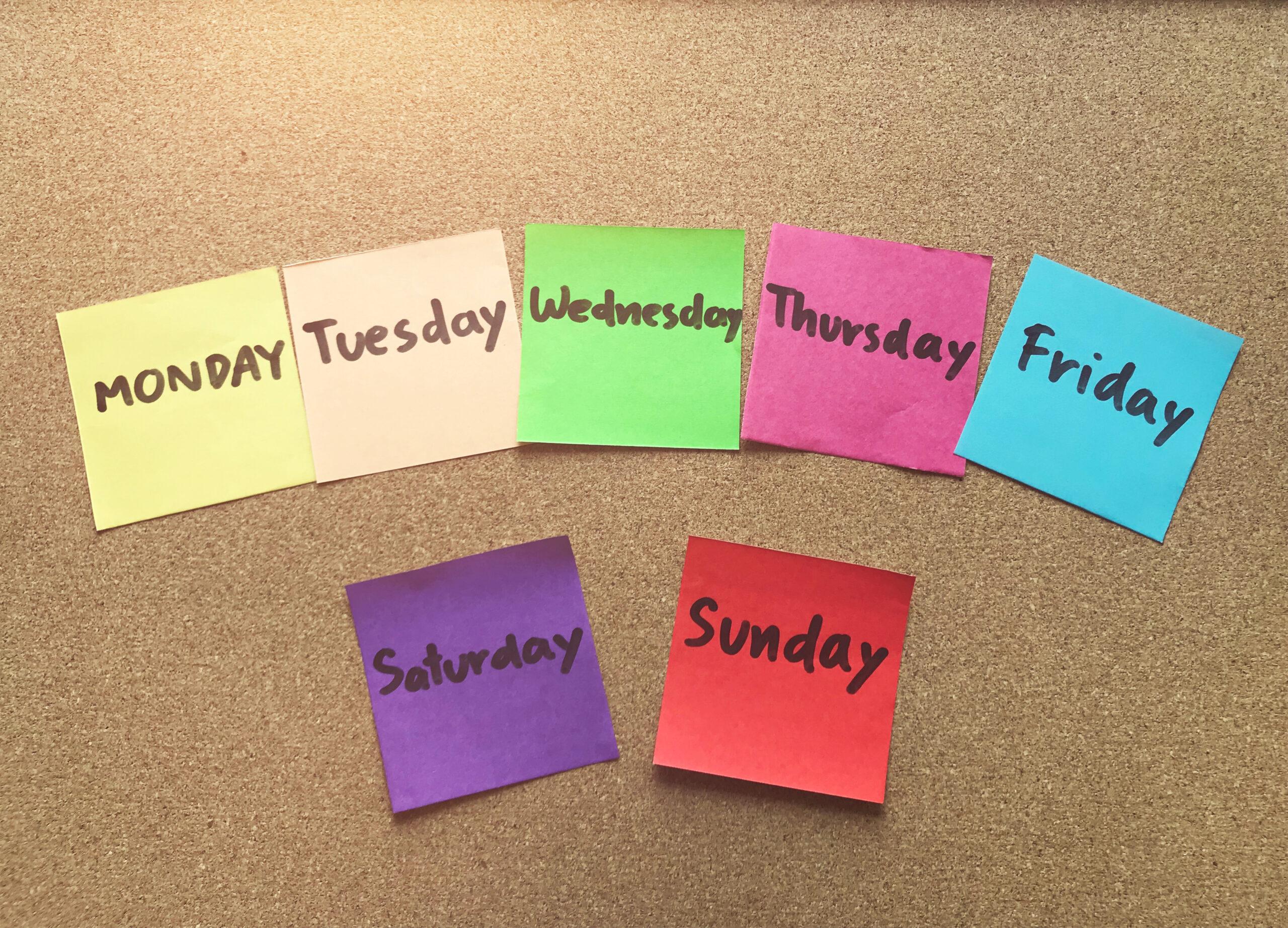 理由3 週のど真ん中が水曜日