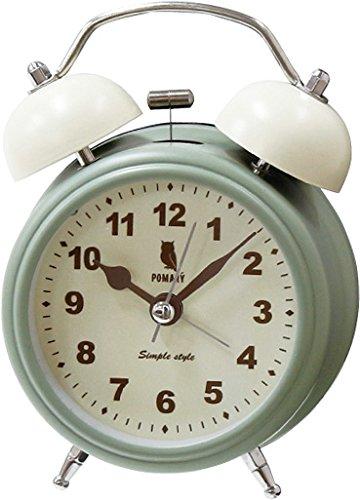 丸和貿易 目覚まし時計 ポマリー ツインベル ミントグリーン