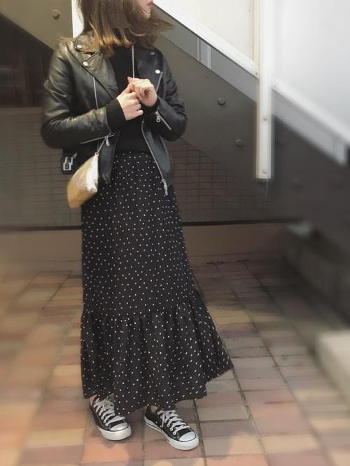 ライダース+スカート