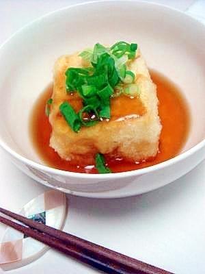 【その1】:めんつゆで簡単♪揚げない☆揚げだし豆腐