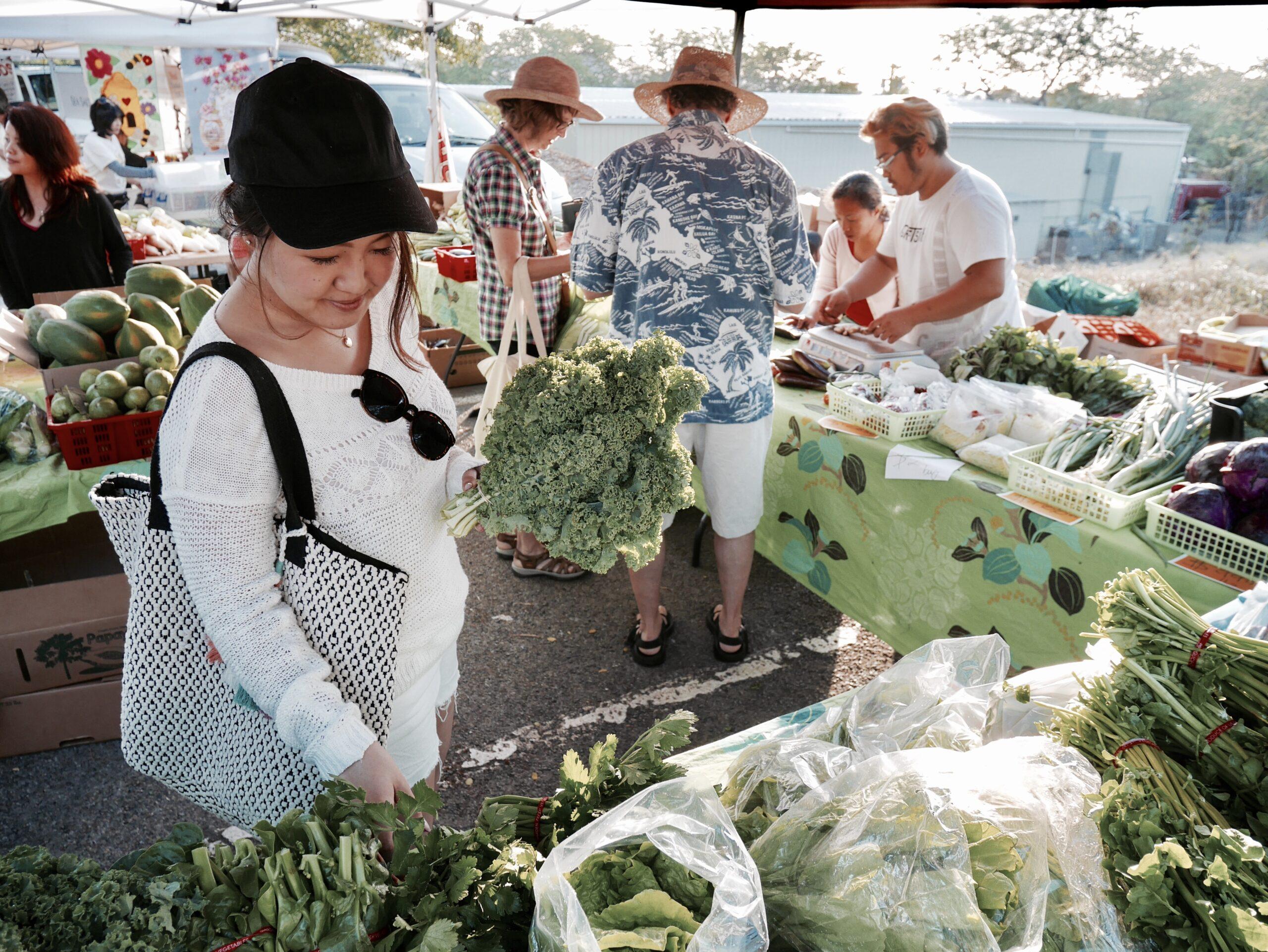 8:00▷朝一で『KCC Farmer's Market』へ