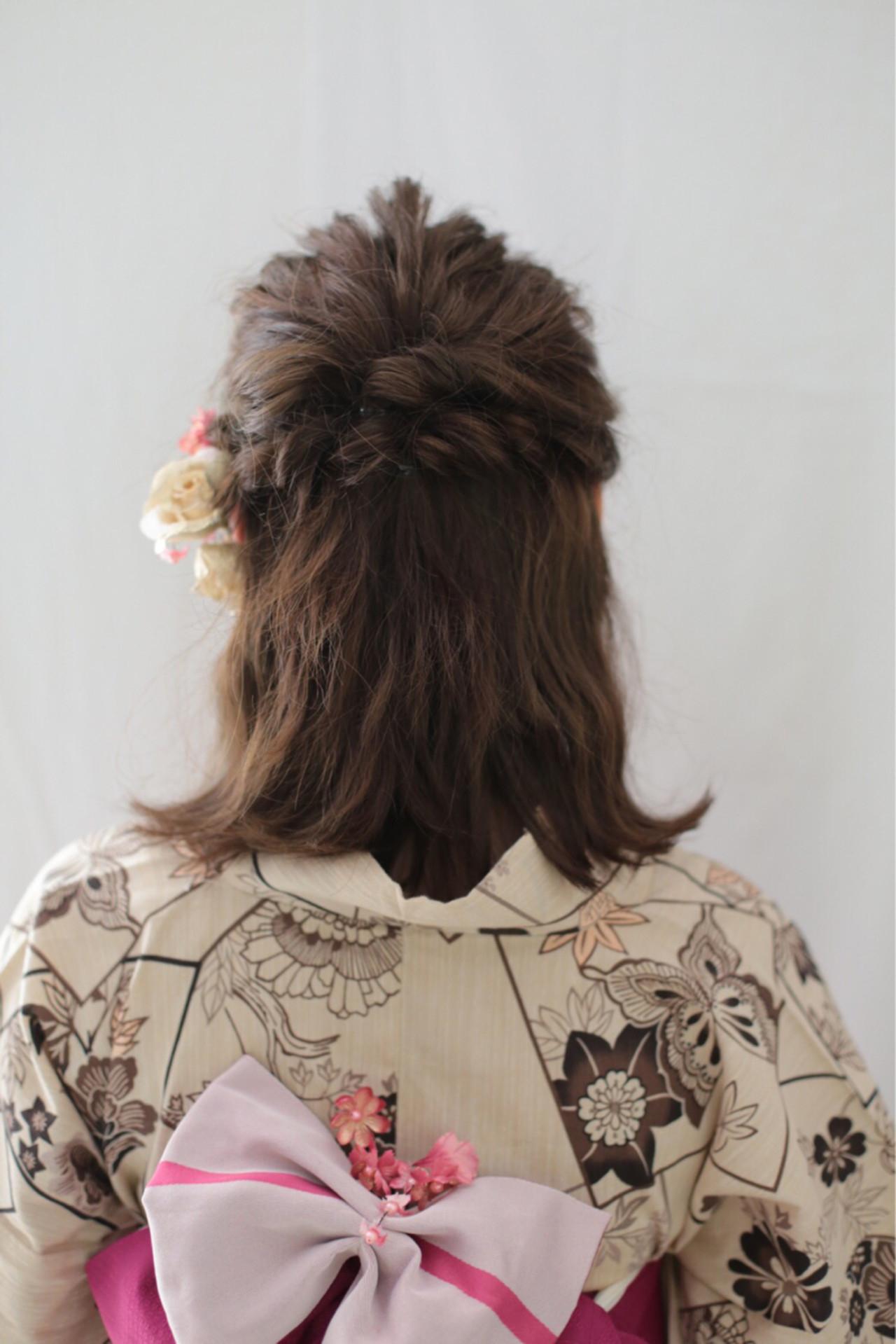 髪をおろすのも可愛いでしょ