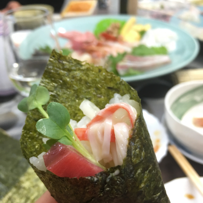 ④手巻き寿司パーティー