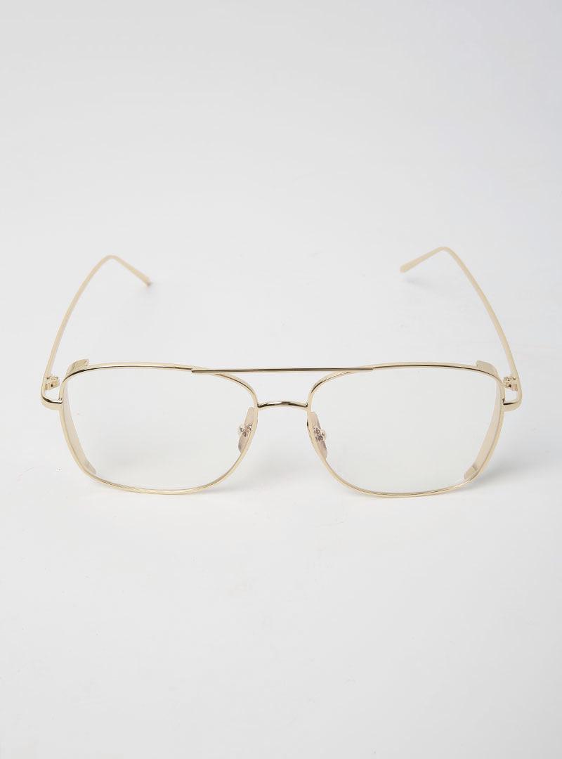 ビッグスクエアフレームメガネ