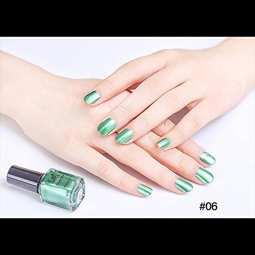 マニキュア パール感 1ボトル 6ml ネイルポリッシュ(緑)