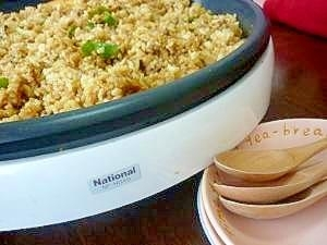 休日のお昼はホットプレートで♪簡単カレー炒飯