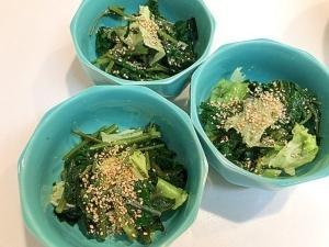 つるつる中国野菜で☆空芯菜と海藻のサラダ