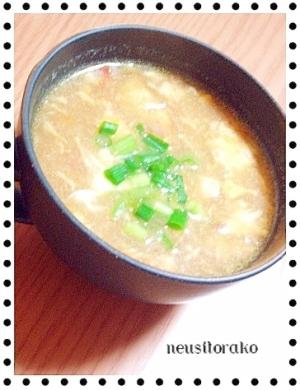 あまった春巻きの具で溶き卵スープ