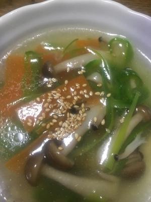 冷蔵庫のあまりもので!野菜スープ!