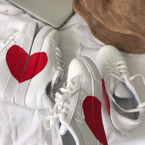 casual heart shoes