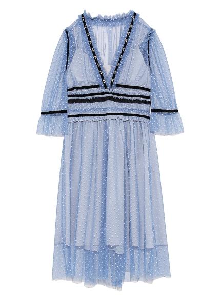 シャーリングホックドレス