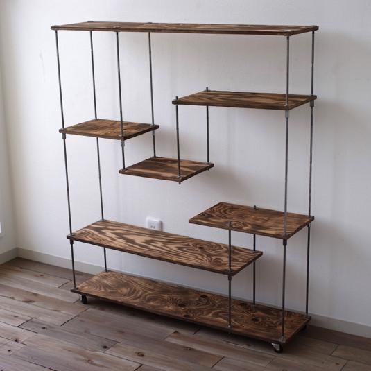 wood iron shelf
