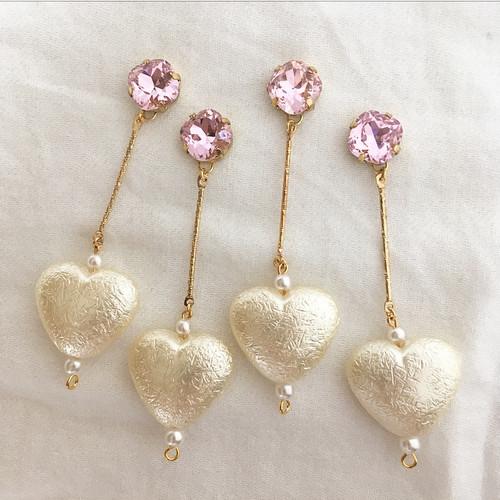 pink pink pink × heart ♥ ピアス/イヤリング