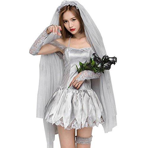 ファションヤ 花嫁 ハロウィン コスチューム コスプレ衣装 4点セット