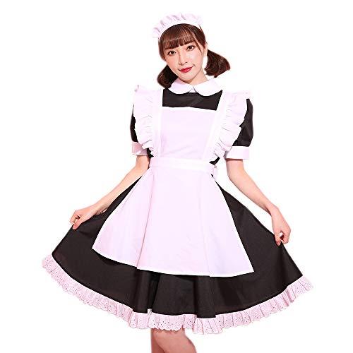 [ブライトララ] コスプレ衣装 メイド服 コスチューム