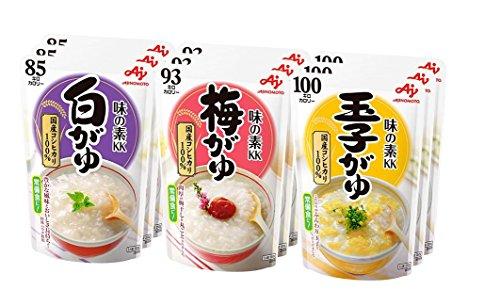 味の素 おかゆ 3種×3個(白がゆ、梅がゆ、玉子がゆ)