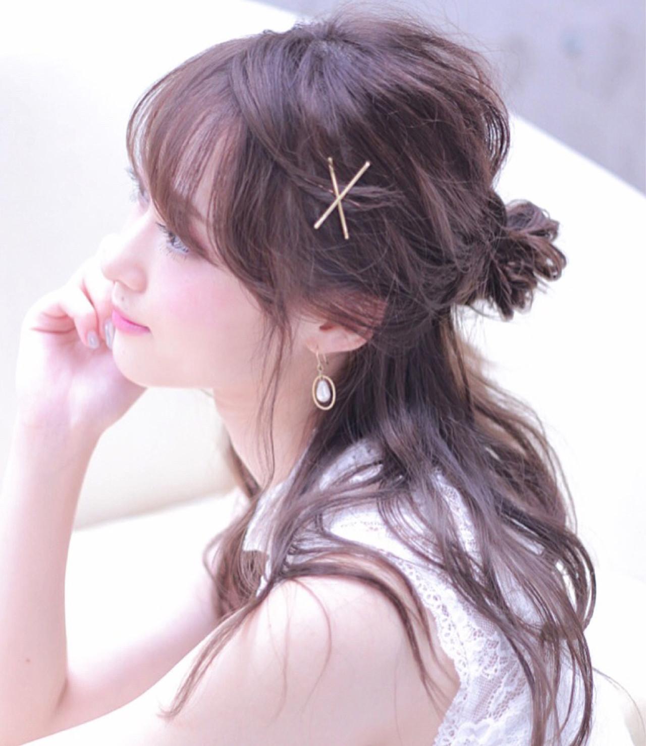 →髪が顔にかからないヘアアレンジ