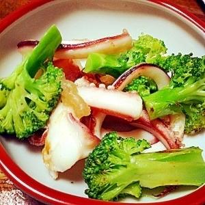*簡単*中華風ブロッコリーとイカ炒め