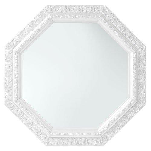鏡 壁掛け 八角形 アンティーク調 51.5cm