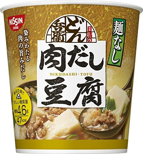 日清麺なしどん兵衛 肉だし豆腐スープ 12g×6個