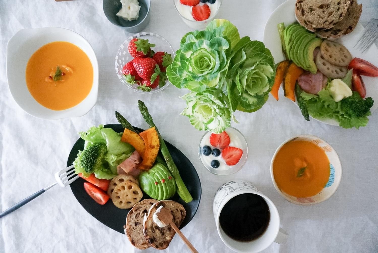 ずばり!野菜+タンパク質を中心に