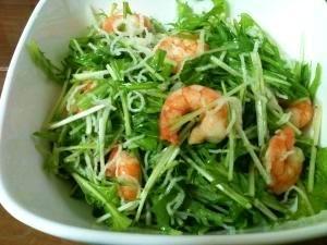 超ウマ!!水菜とえびのサラダ